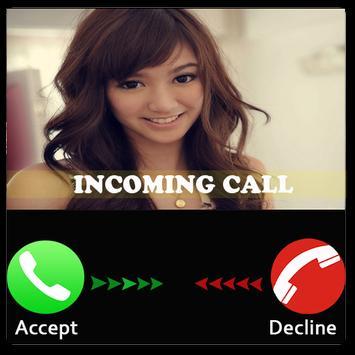 Prank cute girl call poster
