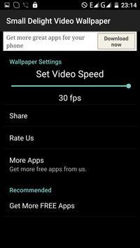 Small Delight Video Wallpaper apk screenshot