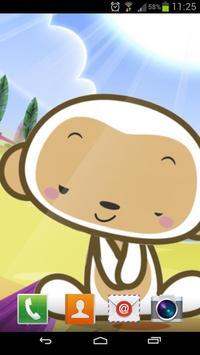 Small monkey  Live Wallpaper poster
