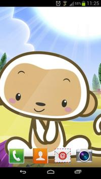 Small monkey  Live Wallpaper apk screenshot