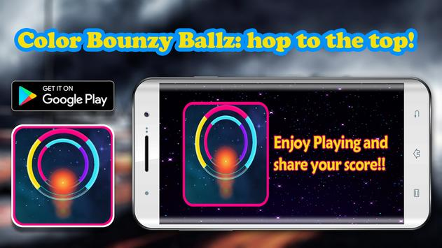 Color Bounzy ballz: tap to switch & hop poster