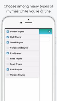 Rhyme Time Rhyming Dictionary apk screenshot