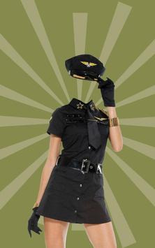 Women Police Suit Camera apk screenshot