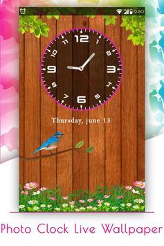 Photo Clock Live Wallpaper poster