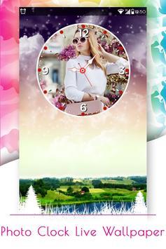 Photo Clock Live Wallpaper screenshot 1
