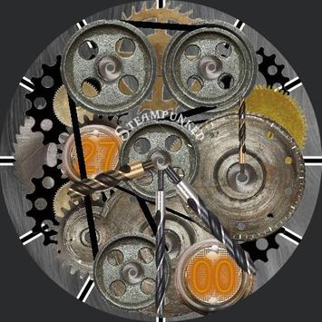 Steampunked Smartwatch face poster