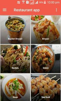 Restaurant app poster