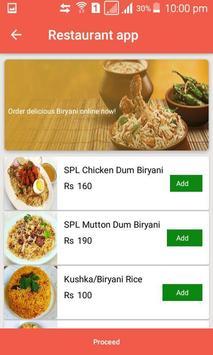 Restaurant app screenshot 1
