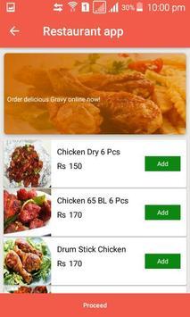 Restaurant app screenshot 2