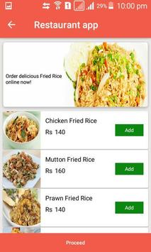 Restaurant app screenshot 3