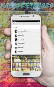 Messi emoji keyboard themes apk screenshot
