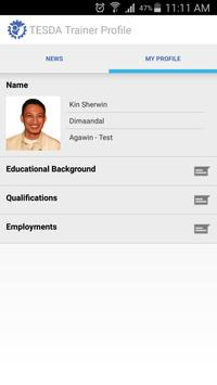 TESDA R4A Trainers Profile apk screenshot
