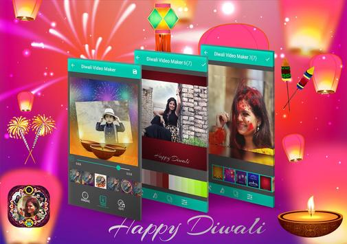 Diwali Photo to Video Maker with Music poster