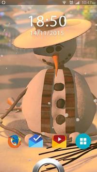 Snowman Live Wallpaper poster