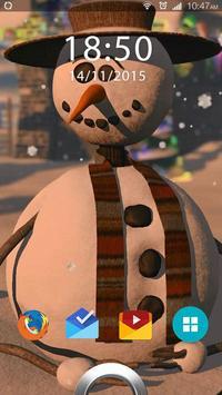 Snowman Live Wallpaper apk screenshot