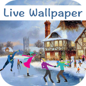 Christmas Rink Live Wallpaper 2017 icon