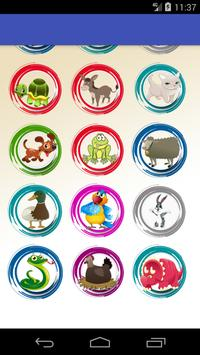 Animals learning game for kids screenshot 2