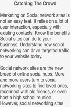 Social Network Marketing screenshot 4