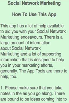 Social Network Marketing screenshot 3