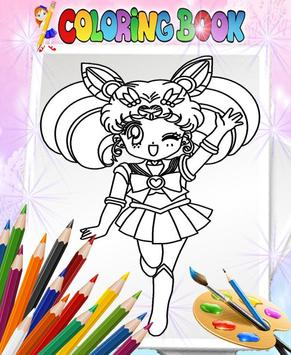 How To Color Sailor Moon - Coloring Book poster