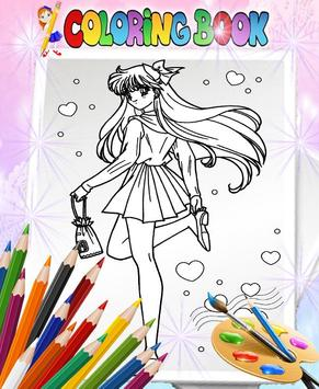 How To Color Sailor Moon - Coloring Book screenshot 1
