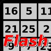 Flash 1 to 25 icon