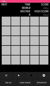 Flash 1 to 25 screenshot 1