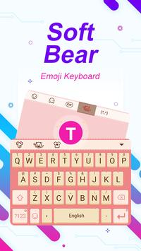 Soft Bear Theme&Emoji Keyboard poster