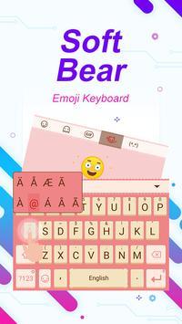 Soft Bear Theme&Emoji Keyboard apk screenshot