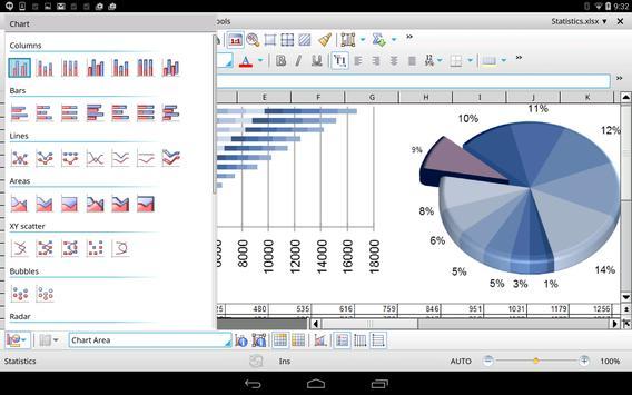 Office HD: PlanMaker BASIC captura de pantalla 6