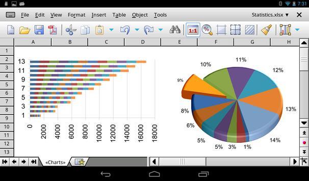 Office HD: PlanMaker BASIC captura de pantalla 7