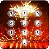 Fire Works Pin Screen Lock icon