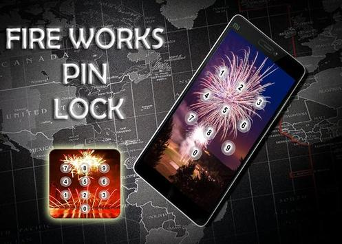 Fire Works Pin Screen Lock poster