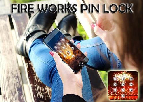 Fire Works Pin Screen Lock screenshot 1