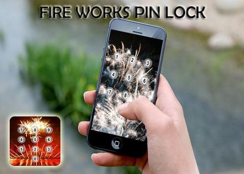 Fire Works Pin Screen Lock screenshot 8
