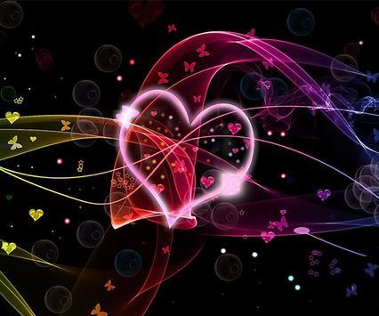 Neon Heart Live Wallpaper screenshot 1