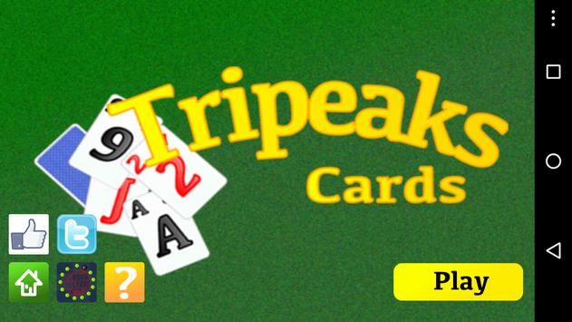 Tripeaks Cards Pyramid apk screenshot