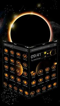 3D Solar Eclipse Theme apk screenshot