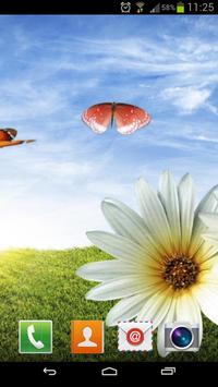 Solar butterfly Live Wallpap poster