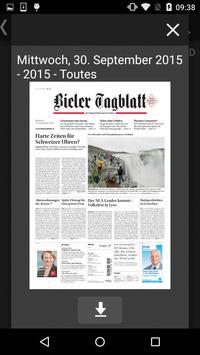 Bielertagblatt poster