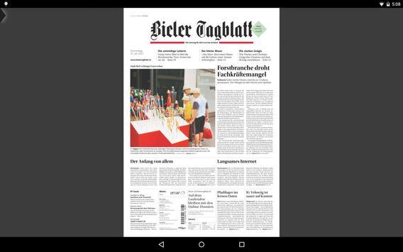 Bielertagblatt apk screenshot