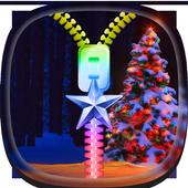 Christmas tree Zipper Lock icon