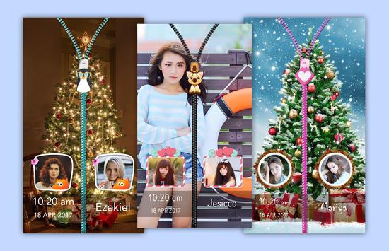 Christmas tree Zipper Lock poster
