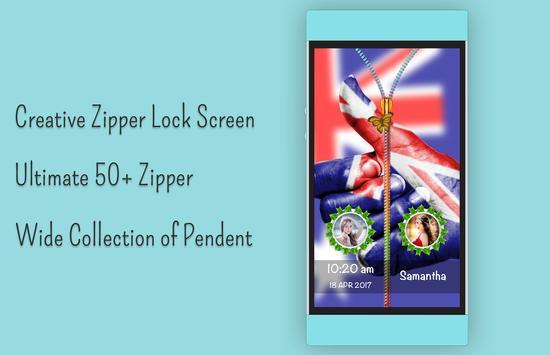 Australia Flag Zipper Lock apk screenshot