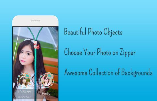 Balloons Zipper Lock Screen screenshot 1