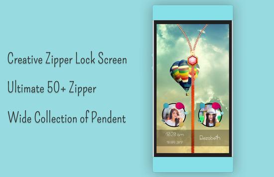 Balloons Zipper Lock Screen screenshot 3