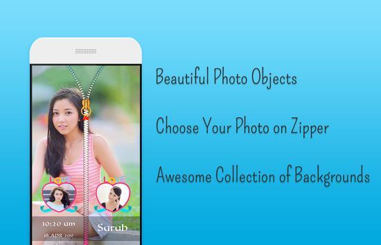 Butterfly Zipper Lock Screen screenshot 2