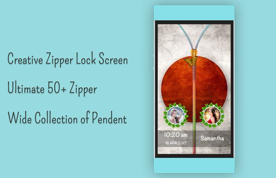Japan Flag Zipper Lock Screen apk screenshot