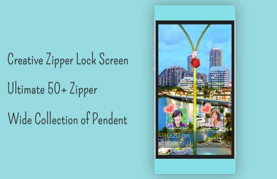 Miami Zipper Lock Screen apk screenshot