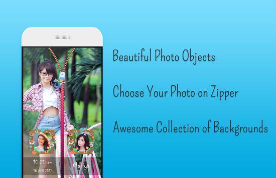 Neon butterfly Zipper Lock screenshot 2